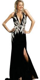 Buy Sexy V-neckline Halter Autumn Gown