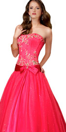 Pretty Bow Pattern Ball Gown | Ball dresses