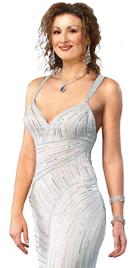 Fully Beaded Soft Silk Chiffon Formal Gown