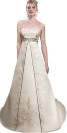 Split Front A-line Bridal Gowns