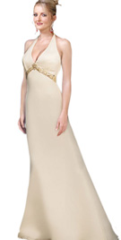 Beaded Empire Halter Bridal Gown
