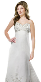 Gorgeous Thin Strap Bridal Gown