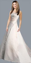 Apprehending Strapless Bridal Gown
