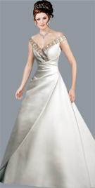 Stupefying Off The Shoulder Bridal Gown