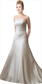 Swanky Strapless Bridal Gown | Cheap Wedding Dreses