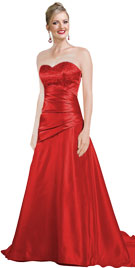Buy Sweetheart Neckline Satin Bridal Gown With Silver Hand Embroidery