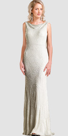 Intricately embroidered evening gown