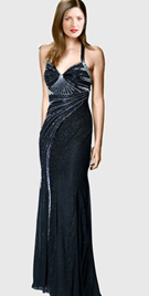 Sumptuous halter prom gown