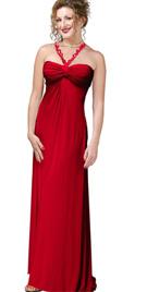 Inverted Straps Evening Dress