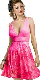 Tonal Sequin Cocktail Dress