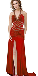 High Slit Evening Dress | Evening Dresses