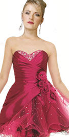 Red Valentine Day Short Dress