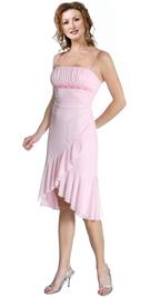 Flowing Pink Chiffon Cocktail Dress