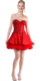 Spicy Frilled Hemline Hot Dress