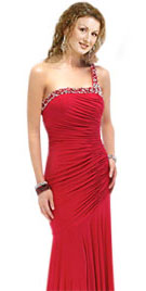 One Shoulder Christmas Gown | Christmas Dress