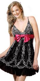 Embroidered Short Christmas Dress | Christmas Dresses