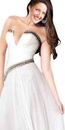 Gorgeous Strapless Christmas Dress | Christmas Attire
