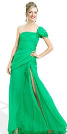 Elegant One Shoulder Christmas Dress