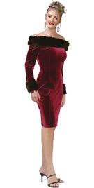 Fur Little Dress With Bare-Shoulder