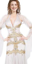 Glamorous Deep V Halter Neck Carnival Gown
