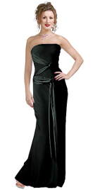 Strapless Jersey With Satin Designer Gown