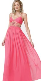 Thin Lined Airy Evening Gown