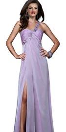 Cross Strap High Slit Evening Gown