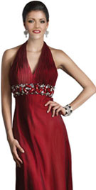 Halter Neck Style Evening Gown