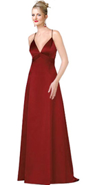 A line Open Back Satin Evening Dress