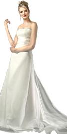 Silk Satin Ribbon Empire evening Gown