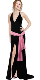 Velvet Dress With Contrast Tie-up evening dress