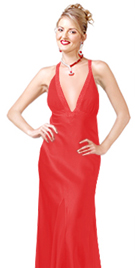 Hot satin Evening dress