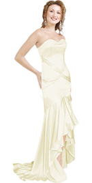 Buy white floor length Satin Evening dress