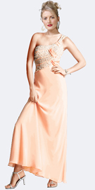 Evening Dress- Beaded One Shoulder Evening Gowns