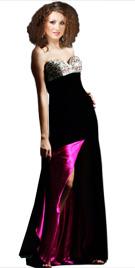 Front Slit Evening Gown | Evening Fall Dress