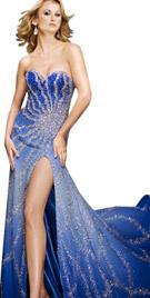 Front Slit Evening Attire | Evening Dresses