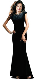 Incredibly Chic Backless Fall Gown   Fall Collection 2010