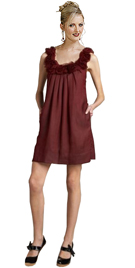 Sleeveless Rose Detail Mini Dress