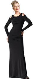 This Lovely Black Gown In Soft Matte jersey material is A Dream Dress With Comfort-fit