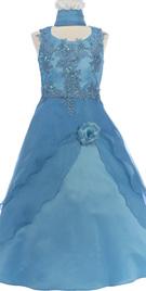 Embroidered Bodice Flower Girl Dress