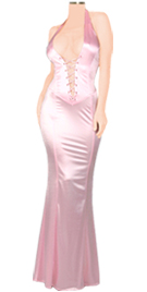 Stretchable satin pink shimmering glamour drape hot item