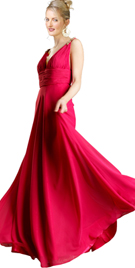 Simple And Flowy Homecoming Gown