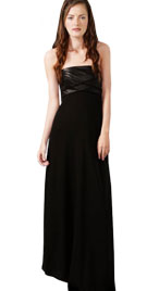 Exquisite Gown with Leather Bodice