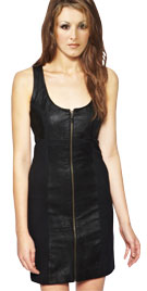 Luscious Leather Blended Cross Backed Dress