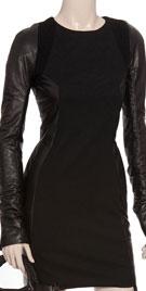 Fabulous Full Sleeved Leather Blended Dress