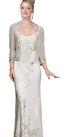 Designer Bias Cut Mother Of The Bride Dress