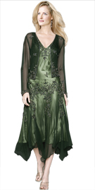 Asymmetrical Mother Of Bride Outfit | Wedding Dresses Collection 2010