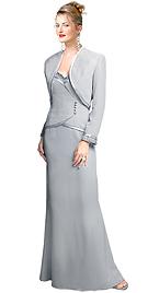Two Piece Faux Wrap Bodice Dress