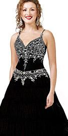 New Flamboyant Sleeveless A-Line Dress