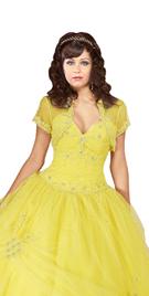 New Scalloped Hemline Ball Gown